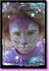 Ottawa kids birthday party face painting cat