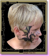 Ottawa face painting kids birthday party dragon 1