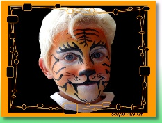 Ottawa kids birthday party tiger face