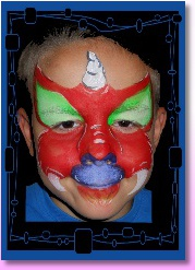 Ottawa face painting kids birthday party dragon