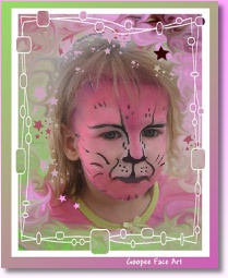 ottawa face painting pink cat